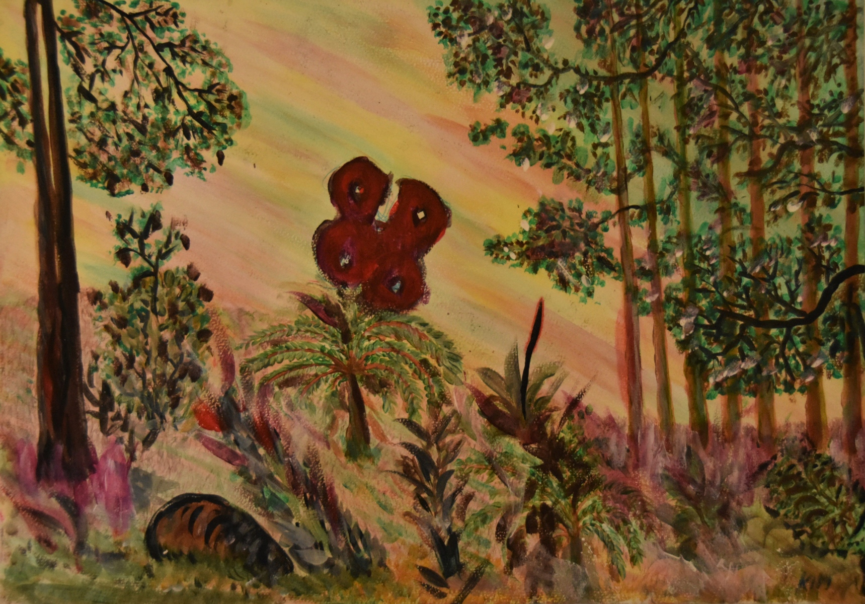 Forest-with-Butterfly